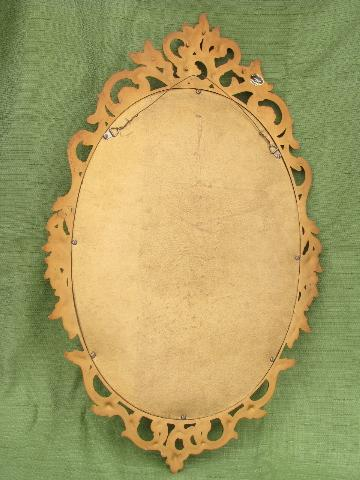 Vintage Syroco Ornate Gold Frame W Mirror French Country