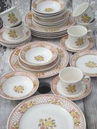 Americana Dinnerware & American Currier Ives Luncheon ...