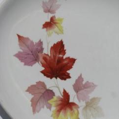 Brass Kitchen Hardware Cheap Decor Vintage Usa Pottery, Autumn Leaves Pattern China Platter ...