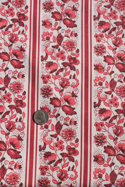 vintage Waverly Meissen stripe antique floral print