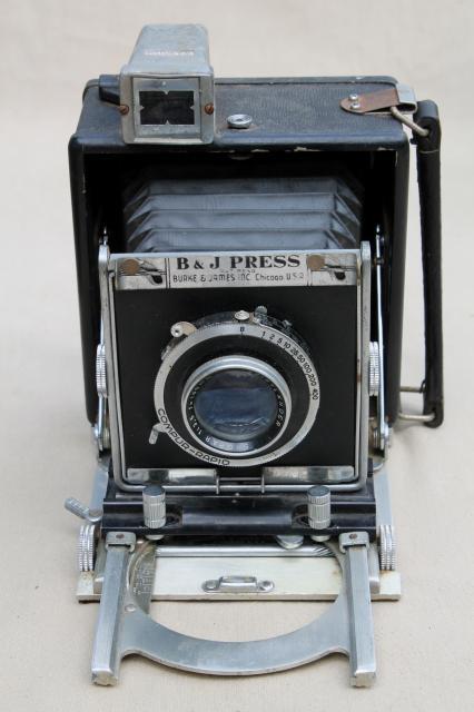 vintage camera lot B  J press camera Kodak box cameras