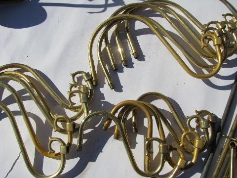 Vintage Chandelier Light Restoration Pieces Lot Old Lamp Parts Some Solid Brass