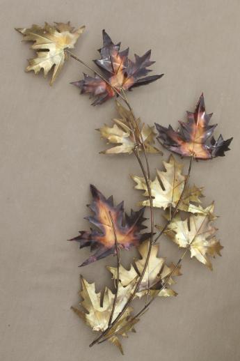 Copper Leaf Wall Art Etsy | iltribuno.com