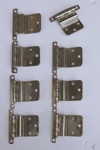 hinges for kitchen cabinets ceiling fans the vintage deco chrome cabinet hardware cupboard door