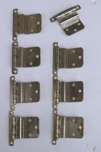 vintage deco chrome hinges, kitchen cabinet hardware ...