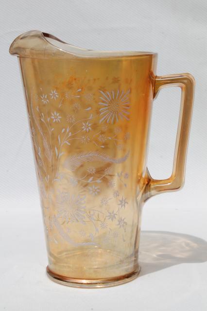 Vintage Glass Lemonade Set Pitcher Amp Glasses Jeannette