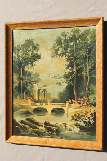 Vintage Paint By Number Pictures French Ruins Garden