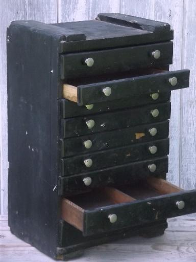 Vintage Rustic Industrial Drawers Tool Box Old Antique
