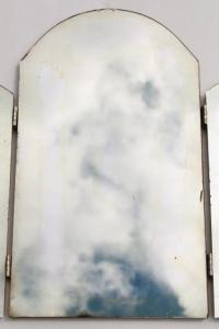vintage vanity dressing table mirror, standing triptych ...