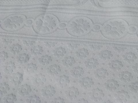 vintage white cotton matelasse bed cover bedspread for
