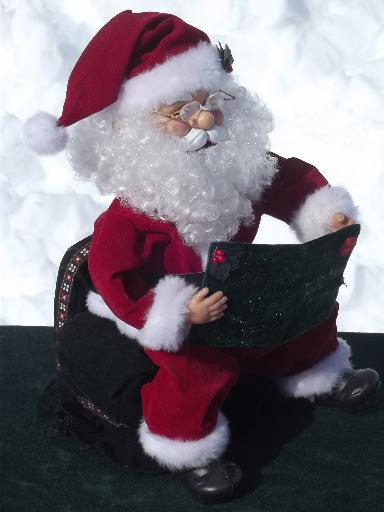 working animated Santa doll reads entire Night Before