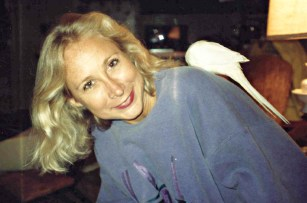 With my friend Judy's bird