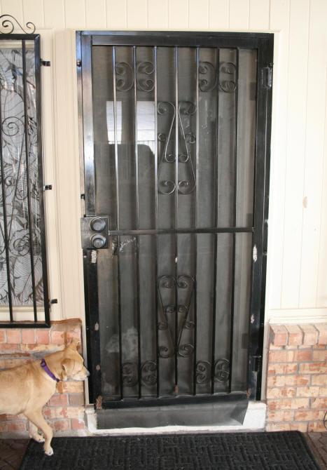 Laurels Adventures in Home Repair  Repair Holes in Wrought Iron Screen Door Frame Security