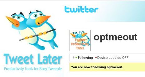 Follow @OptOut