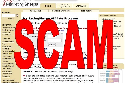 Marketing Sherpa scam