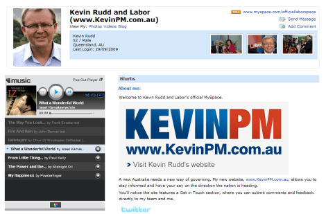 Kevvie On MySpace Music