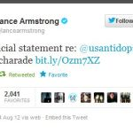 Lance Armstrong and a tweeted Social Media Press Release
