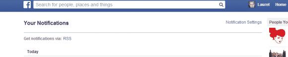 Notifications RSS Facebook