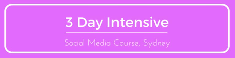 Course: 3day social media sydney intensive