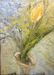 Yellow Tulip by Artist Diane Akey