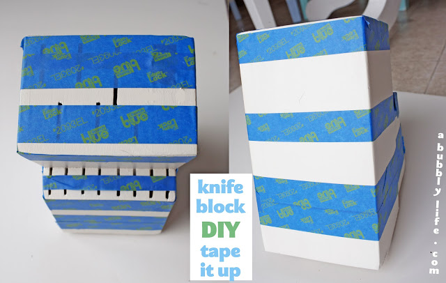 A Bubbly LifeDIY Color Block Your Knife Block! - A Bubbly Life