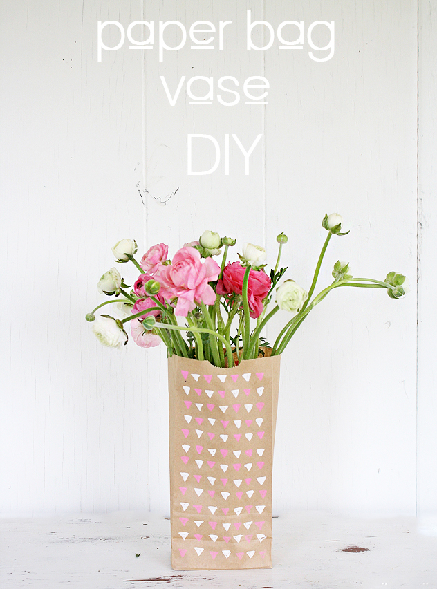 A Bubbly Lifediy Paper Bag Flower Vase A Bubbly Life