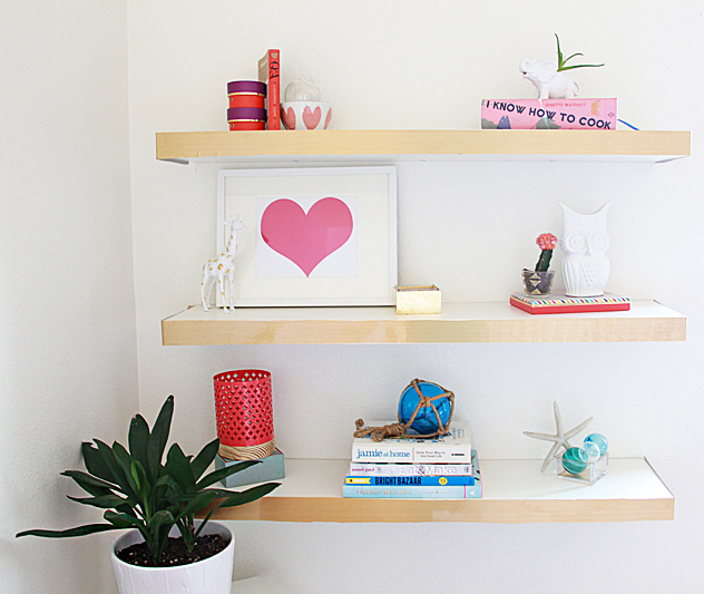 Ikea Hack Floating Shelves | DIY Room Decor Ideas for Crafters (Who Are Also Renters)