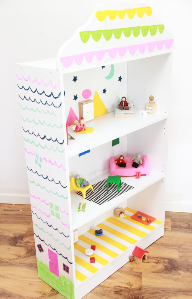 Dollhouse Bookcase Diy: A Bubbly LifeDIY Dollhouse Bookcase With #GiveaHome