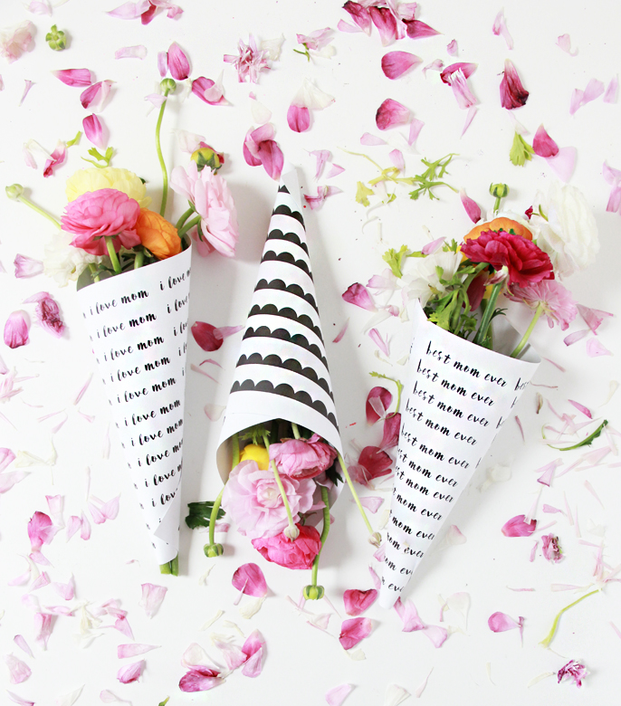 A Bubbly LifeDIY Mother\'s Day Flower Bouquets Free Printables - A ...