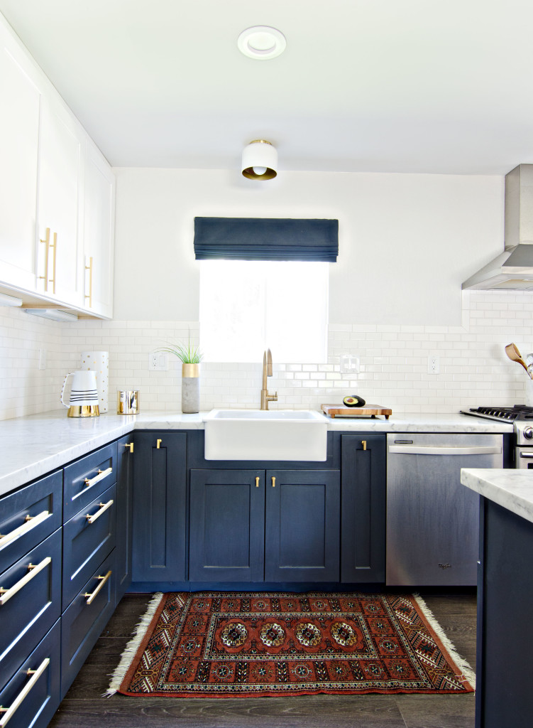 Having A Moment Navy and White Kitchen Cabinets  Lauren