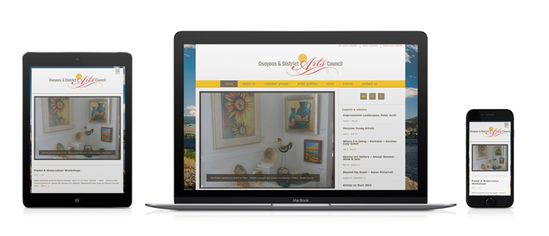 a photo of the osoyoos arts website