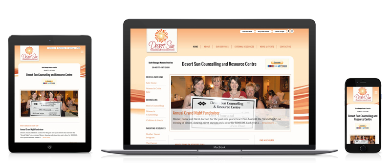 an image of Desert Sun's responsive website