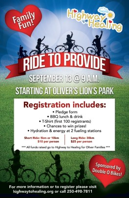 Poster for Ride to Provide event