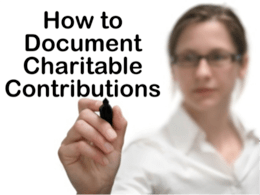 Tax Deduction for Charity? A Few Rules
