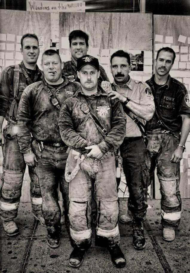 Ash Laden Firefighters