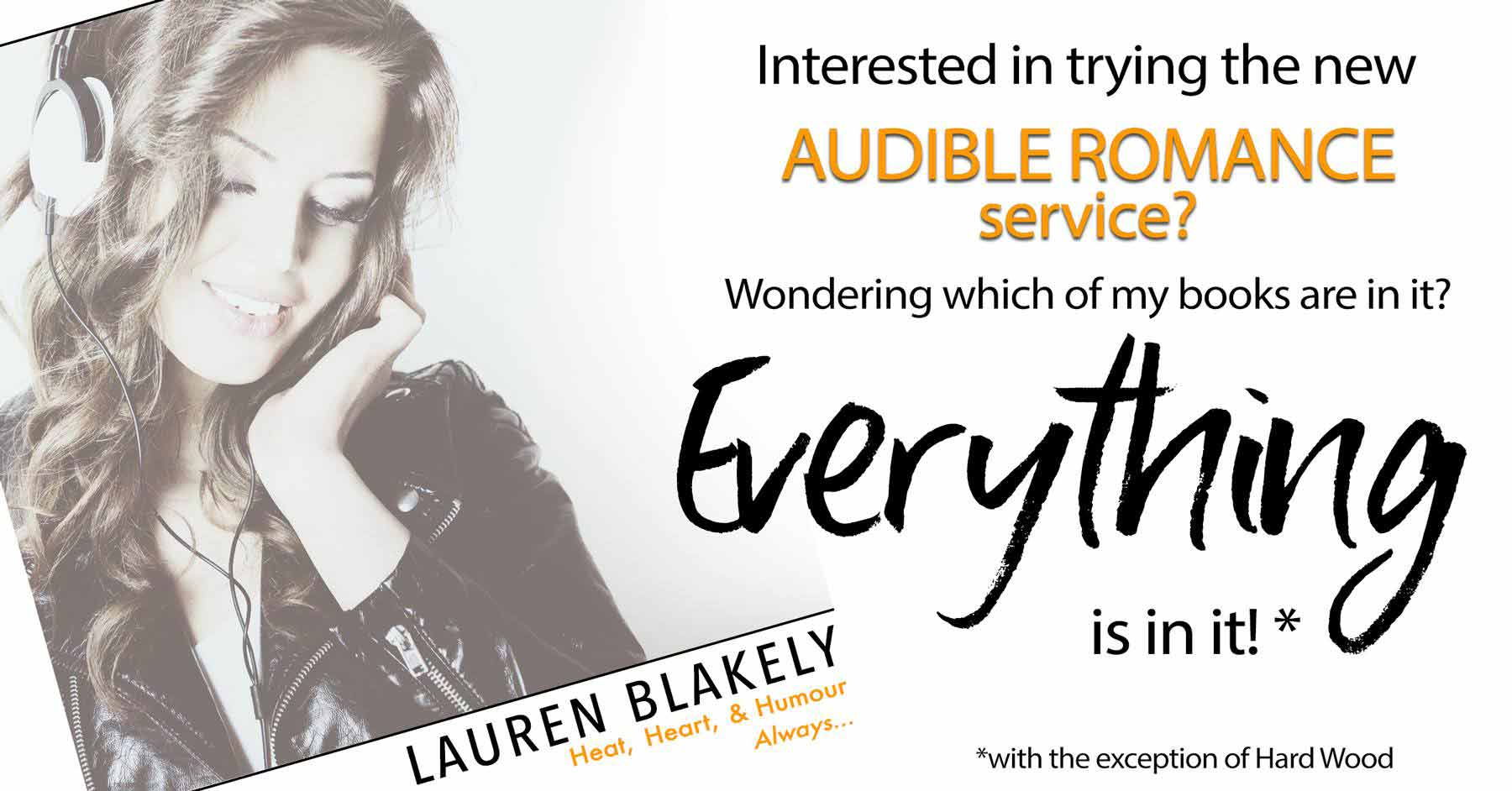 Have you heard about the new Audible Romance package? - Lauren BlakelyLauren Blakely
