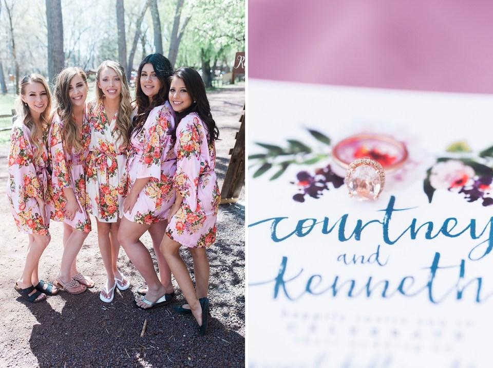 Pinetop Wedding, Northern Arizona Wedding Photographer, Lakeside Wedding, Woodsy Wedding, Floral Bridesmaids Robes