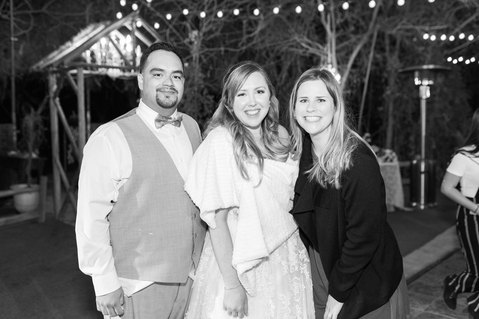 Phoenix Garden Wedding Photographer, Blush Garden Wedding, Blue Winter Phoenix Wedding, Arizona Wedding Photographer, AZWed, Arizona Weddings, Winter Wedding Day, Whispering Tree Ranch Wedding, Black and White Image, Wedding Photographer with Couple