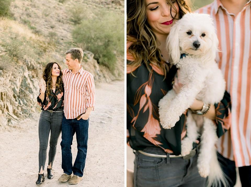 Desert Engagement Session, Dogs Engagement Session, Phoenix Wedding Photographer