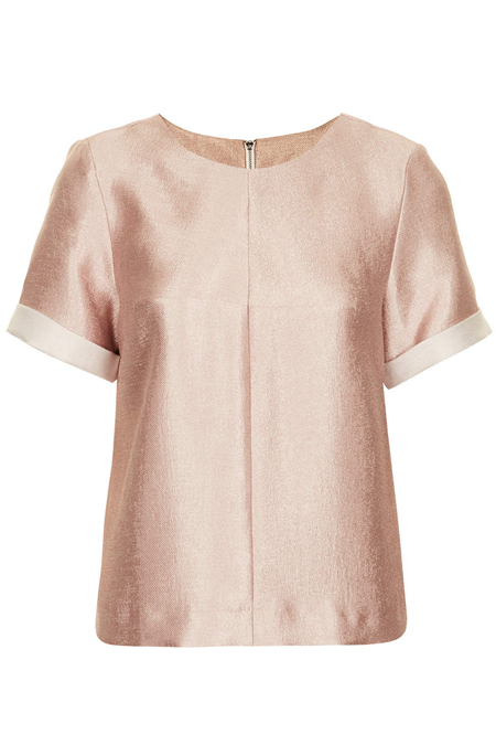 rose gold metallic tee - topshop