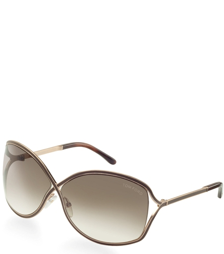 tom ford rickie sunglasses in gold brown