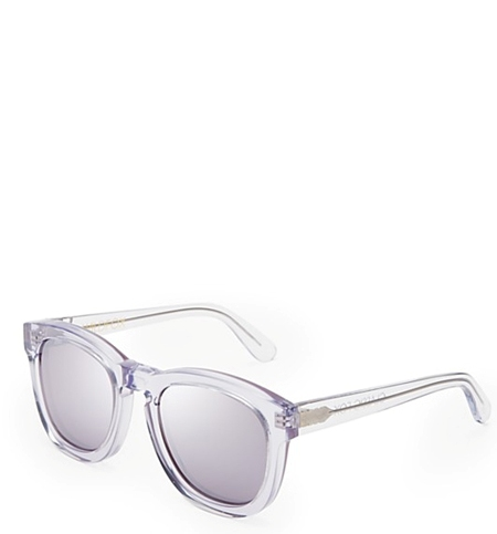 WILDFOX Classic Fox Deluxe Mirror Sunglasses in crystal silver mirror