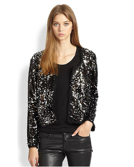 Milly frayed sequin jacket