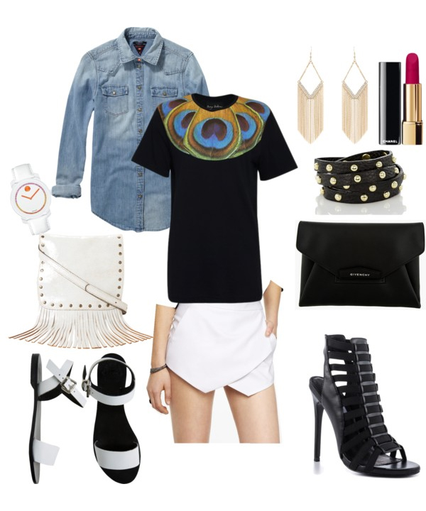 Day To Night Skort Outfit Idea