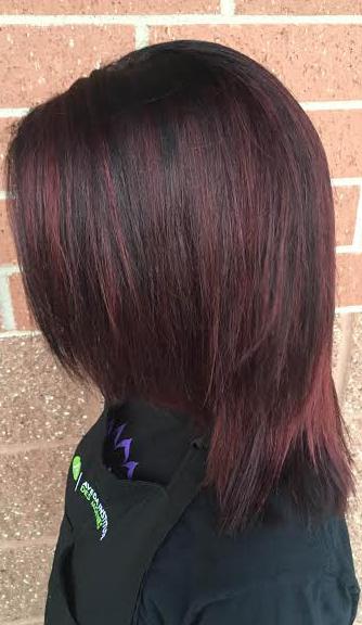 burgundy brunette hair color