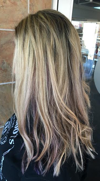 blonde-with-violet-peekaboo-highlights