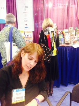 Signing copies of Rachel's Hope at Book Expo in NYC in May, 2014