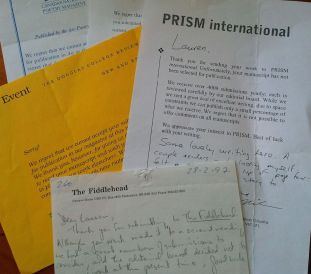 Part of my rejection letter collection