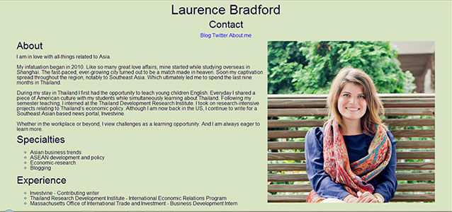 In Case You Have Been Wondering Laurence Bradford Asia And