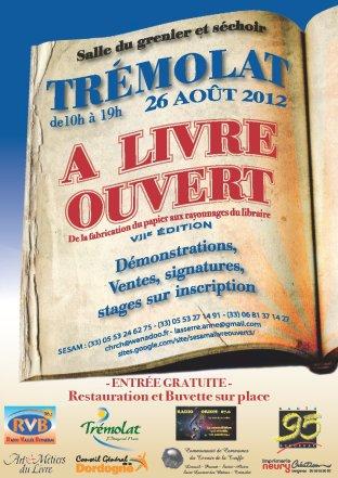 affiche àLivreOuvert Trémolat aout2012